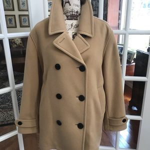 Lands End 100% Wool Pea Coat